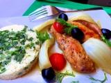 Králičí hřbety s fenyklem a olivami recept