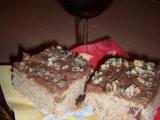 Jablečný moučník s čokoládovo-smetanovou polevou recept ...