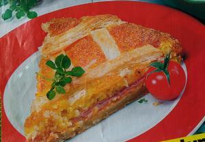 Mámin sýr-šunkový koláč