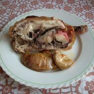 Pečené kuře s jablky recept