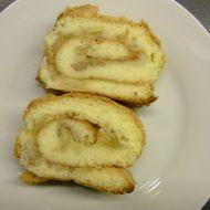 Piškotová roláda s jablky a zakysanou smetanou recept