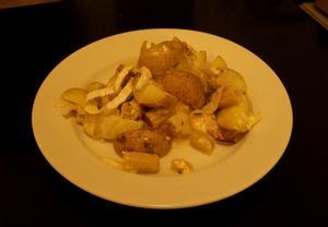 Hermelínové brambory s pórkem