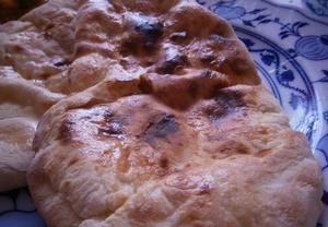 Indický chléb (Naan / Chapati)