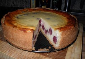 Tvarohovo-třešňový dort (käsekuchen)