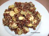 Červená quinoa s ananasem, mandlemi a kuřecím recept ...