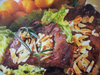 Srnčí steak s mandlemi