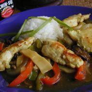 Kuřecí plátky se zeleninou a bambusem recept