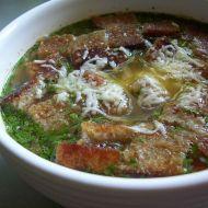 Česneková polévka s krutony recept
