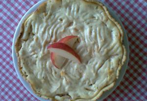 Koláč s jablečným tvarohem