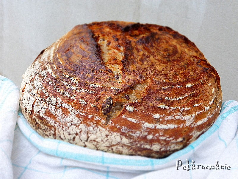 Pšeničný kváskový chleba se semínkovou záparou recept ...