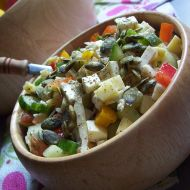 Zeleninovo-sýrový salát recept