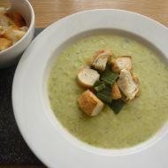 Krémová pórková polévka s krutony recept