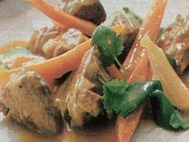 Jehněčí maso s koriandrem