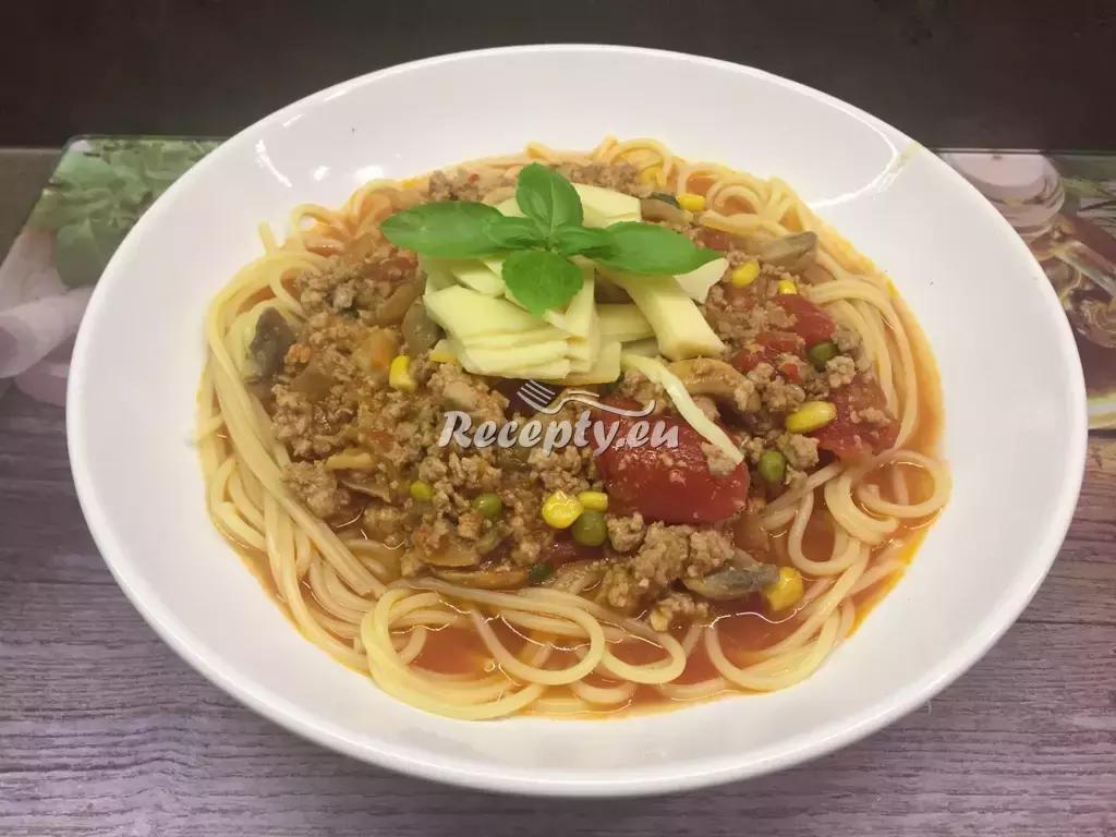 Špagety s mletým masem recept  mleté maso