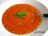 Rajská polévka s jáhlami recept