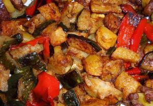 Grilovaná nebo pečená špeková zelenina