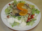 Žraločí steak s Italským kořením na salátu recept
