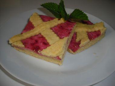 Mřížkový koláč s jahodovým tvarohem