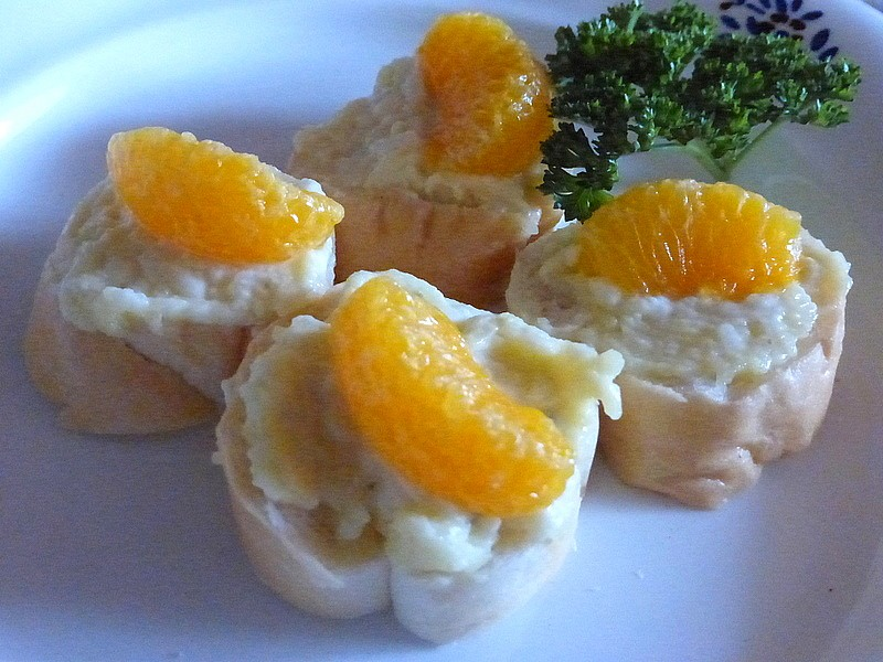 Sýrová pomazánka s mandarinkou recept