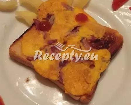 Toasty s volským okem a uzeninou recept  topinky, toasty, sendviče ...
