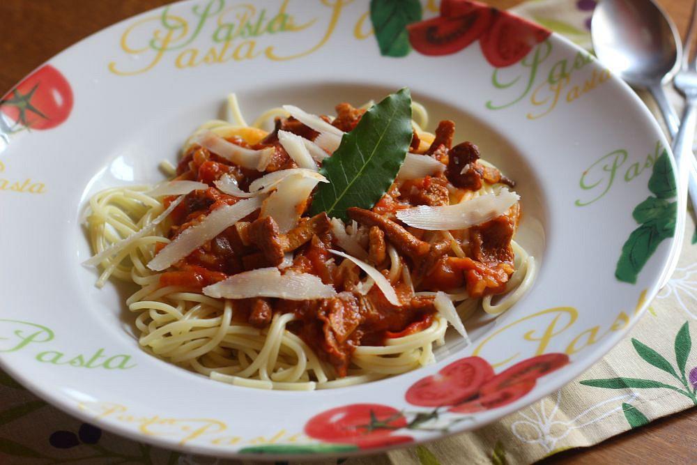 Špagety s liškami recept