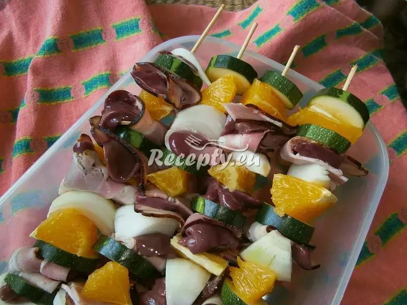 Játrové špízy s pomerančem a cuketou recept  vnitřnosti
