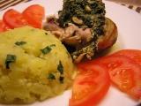 Kuře plněné špenátem a sýrem recept