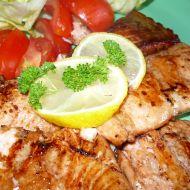 Marinovaný pečený losos recept