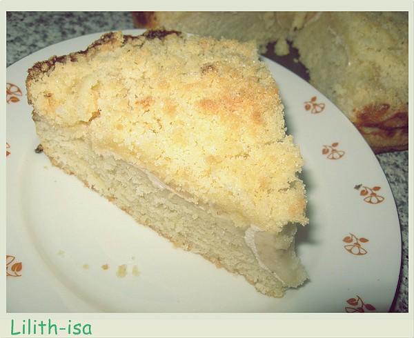 Jablečný koláč s drobenkou (bez vajec) recept