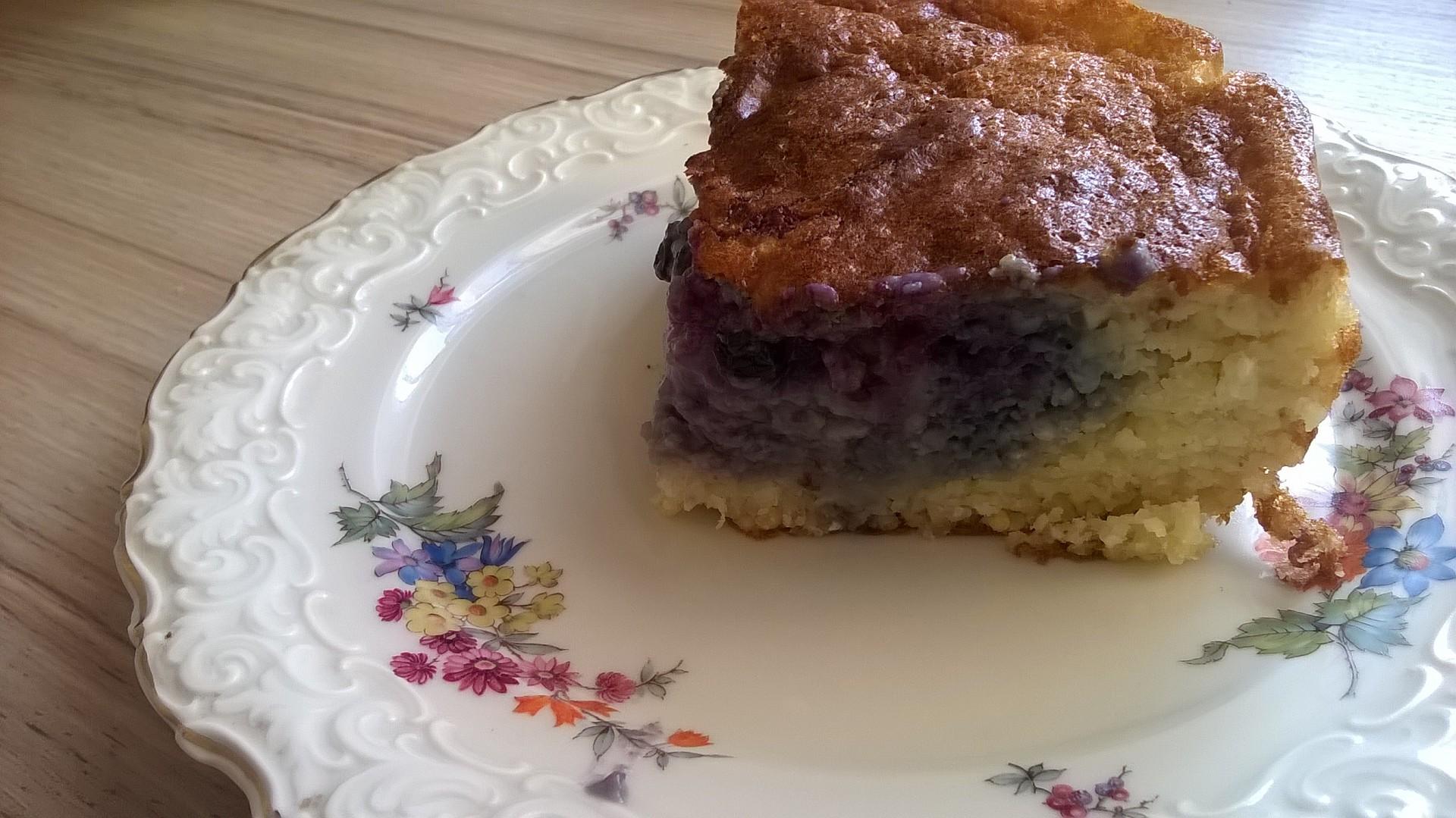Tvarohový jahelník s borůvkami recept