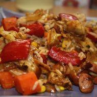 Rizoto s uzeninou a zeleninou recept