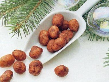 Marcipánové brambory  náplň do medové krabice