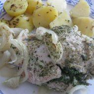Kuřecí kapsa se špenátem recept