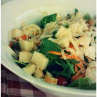 Listový salát se sýrem Scamorza recept