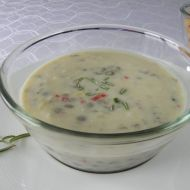Pikantní polévka s brynzou a čočkou recept