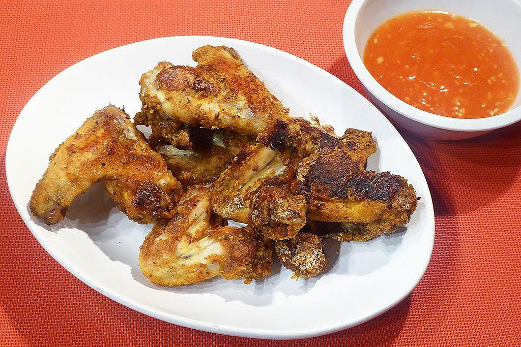 Pečená kuřecí křídla bez oleje recept