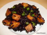 Černá rýže s restovanými batáty recept