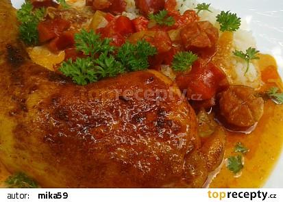 Kuřecí stehna s debrecínskou chutí recept