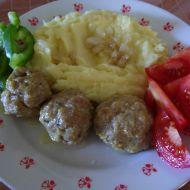 Masové kuličky se sýrem a bramborovou kaší recept