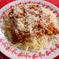Trampské špagety recept