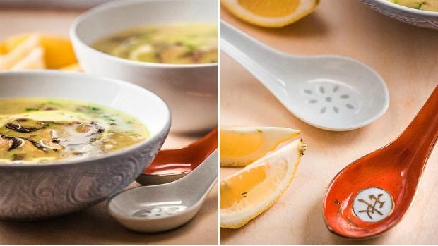 Asijská houbová polévka