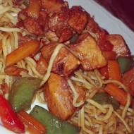 Smažené čínské nudle se zeleninou recept