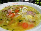Kedlubnová polévka s uzeným masem a vaječnou jíškou recept ...