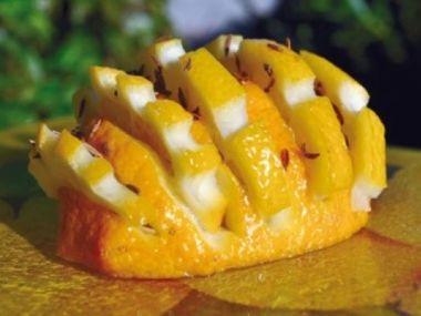 Citrusový ježek- dekorace