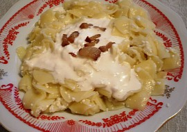 Nudle s tvarohem  z maďarskej kuchyne recept