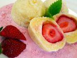 Tvarohové jahodové knedlíky s jahodovou merendou recept ...