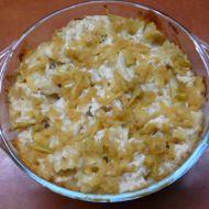Zapečené sladké těstoviny s tvarohovou omáčkou recept