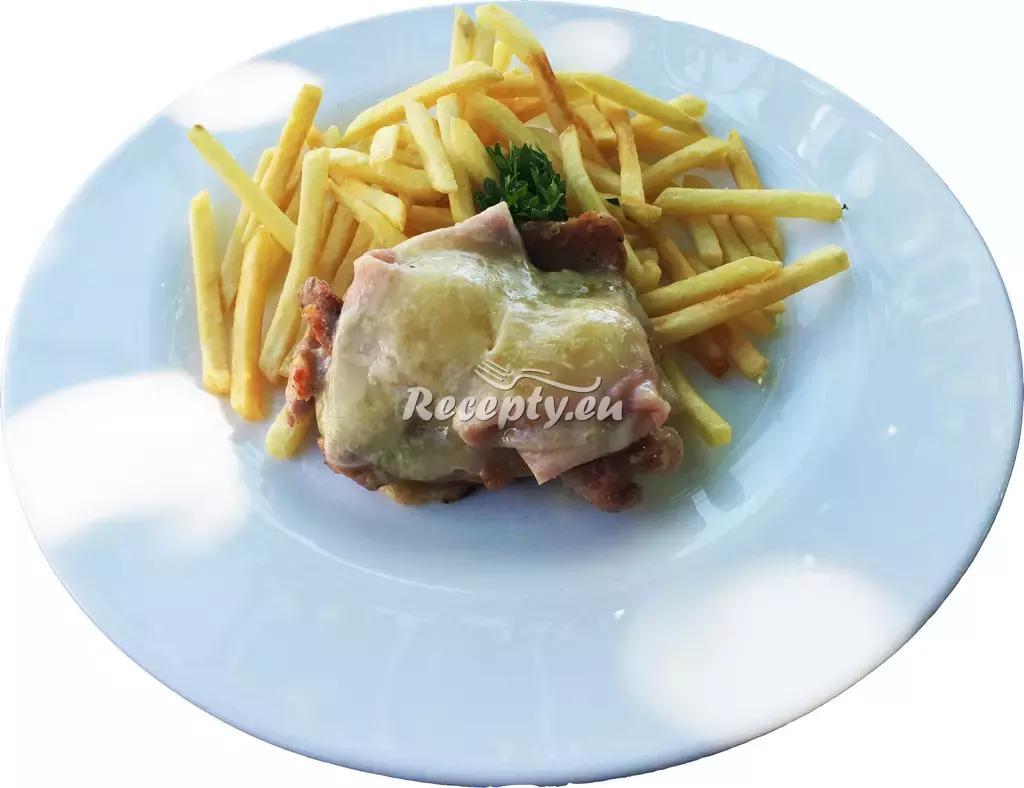 Kuřecí prsa se šunkou a sýrem recept  drůbeží maso