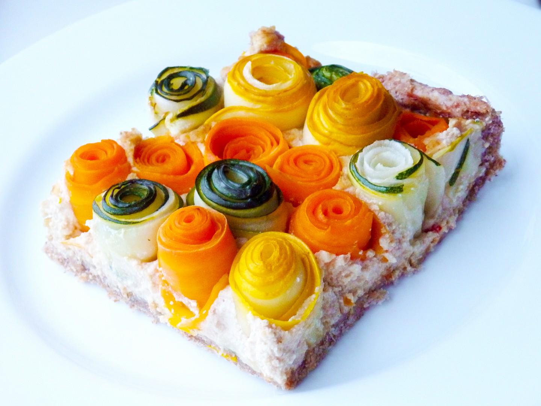 Koláč se zeleninovými růžičkami recept