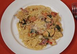 Kuřecí prsa v krémových špagetách recept